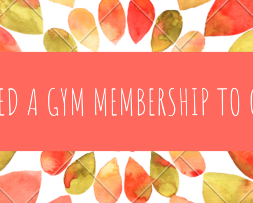DO I NEED A GYM MEMBERSHIP TO GET FIT?